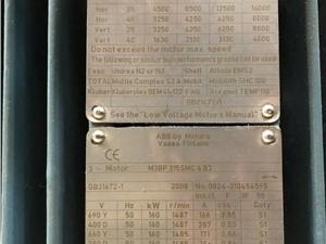 185KW (248HP) Used ABB AC Motor, Model M3BP 315SMS 4 B3