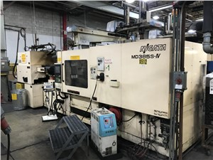 385 Ton Niigata Electric Injection Molding Machine Model MD385S-IV, 44 Oz, New In 2005