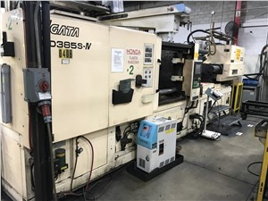 385 Ton Niigata Electric Injection Molding Machine Model MD385S-IV, 44 Oz, New In 2004