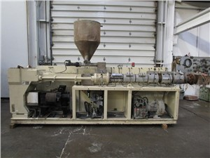 90mm Krauss Maffei KMD90-26, Parrellel Twin Screw Extruder,2001