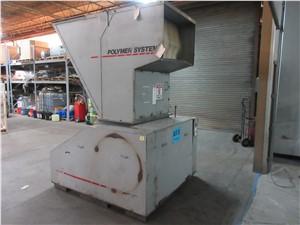 "24"" x 42"" Polymer Systems Granulator, Model 2442SF, 100 Hp"