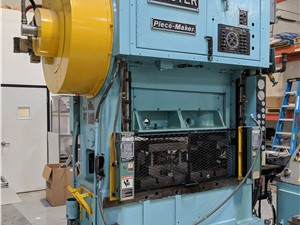 45 Ton Minster Stamping Press, Model P2-45, With Servo Feed Line