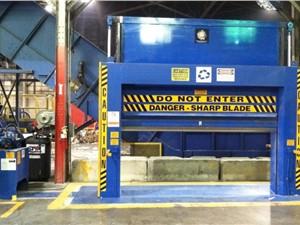"88"" W X 72"" H Recycling Equipment Inc. Roll Splitter"