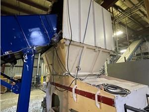 """62"""" Vecoplan Single Shaft Shredder, Film & Fiber Rotor, Hi-Torc Drive System, Refurbished in 2018"""