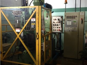 50mm Bekum Dual Head Single Station Continuous Blow Molding Machine, Model BAE-1, New In 1995