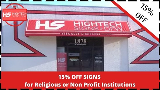 Monthly Offer: 15% OFF SIGNS SAVE NOW