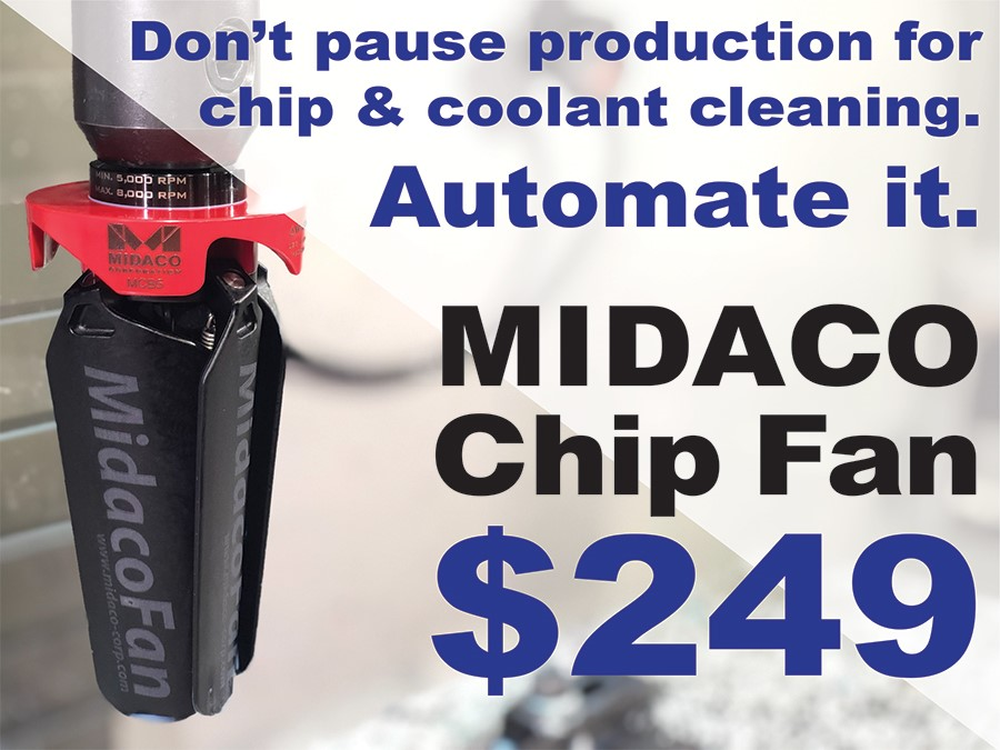 Midaco Chip Fan for CNC Machine Tools