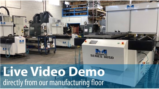 Midaco Live Demo Pallet Changer Systems on Machining Centers on machine shop floor
