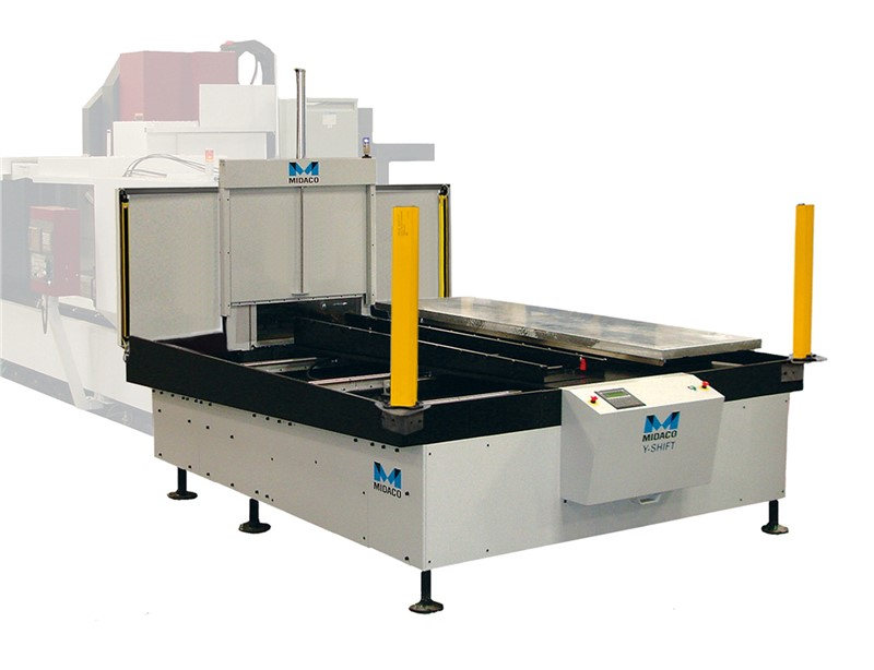 Midaco Y-Shift Automatic pallet changer wit CE Light Curtain on Machining Center