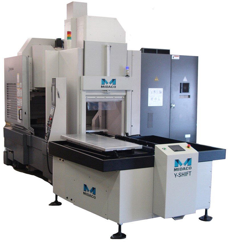 Midaco Y-Shift Automatic pallet changer on Machining Center