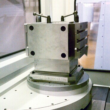 Micro Pallet on Tombstone workholding in machinf center