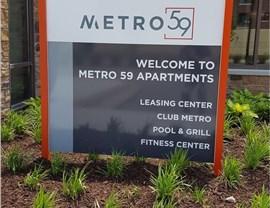 Parvin Wayfinding Sign Metro 59