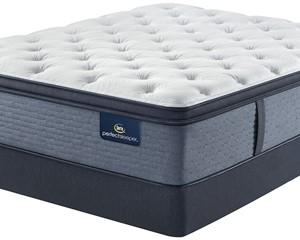 Serta Perfect Sleeper Navy Springs Plush Pillow Top Mattress