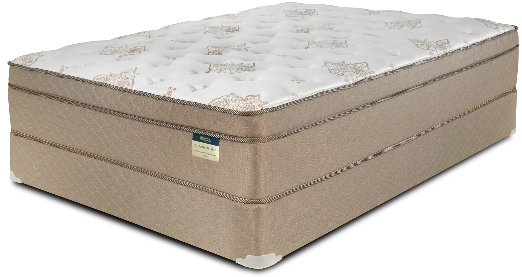 Memory foam euro pillow top mattresses for Which mattress company is the best