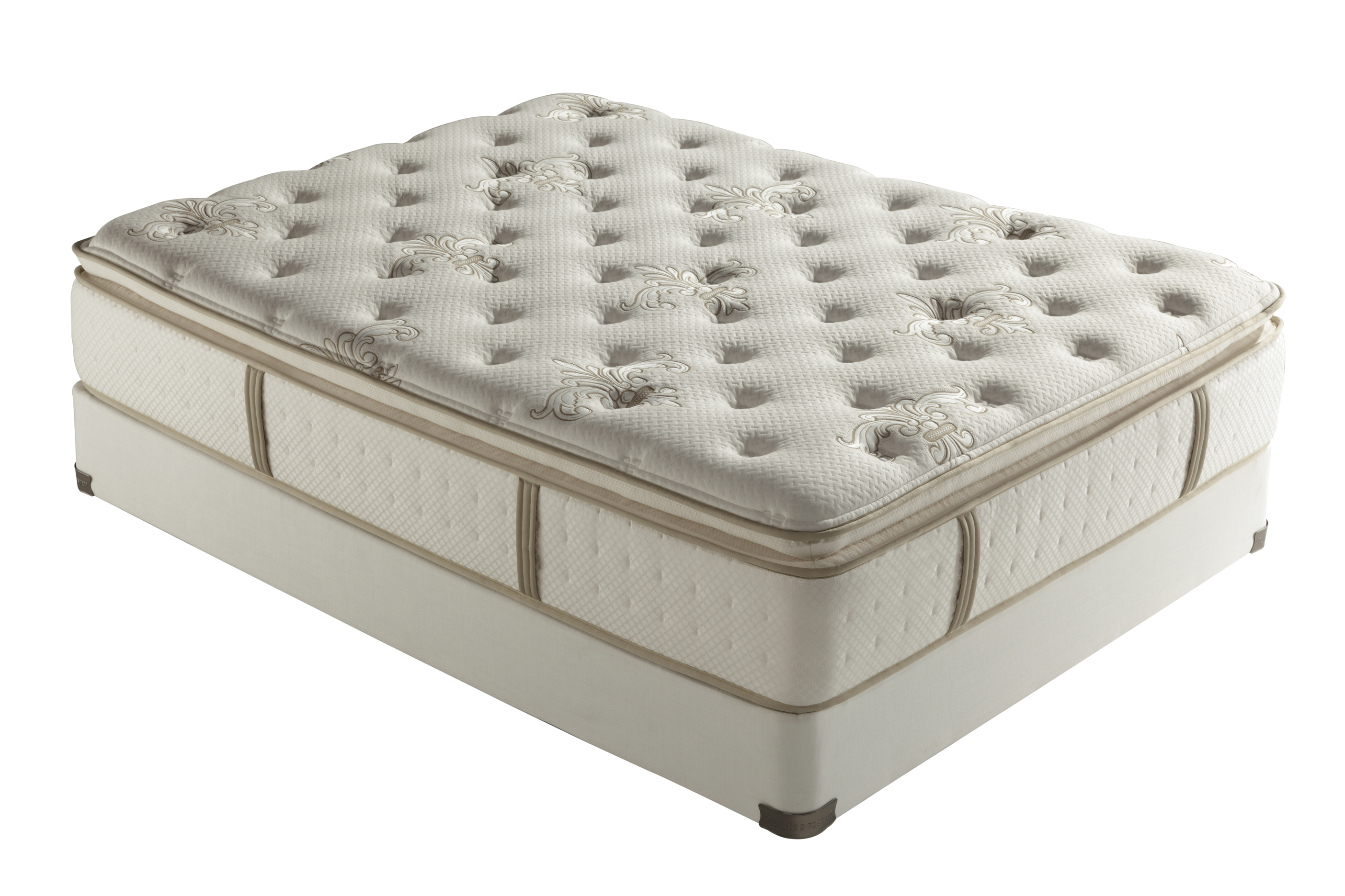 pillow top mattress. Stearns \u0026 Foster Tonya Luxury Plush Euro Pillow Top Mattress