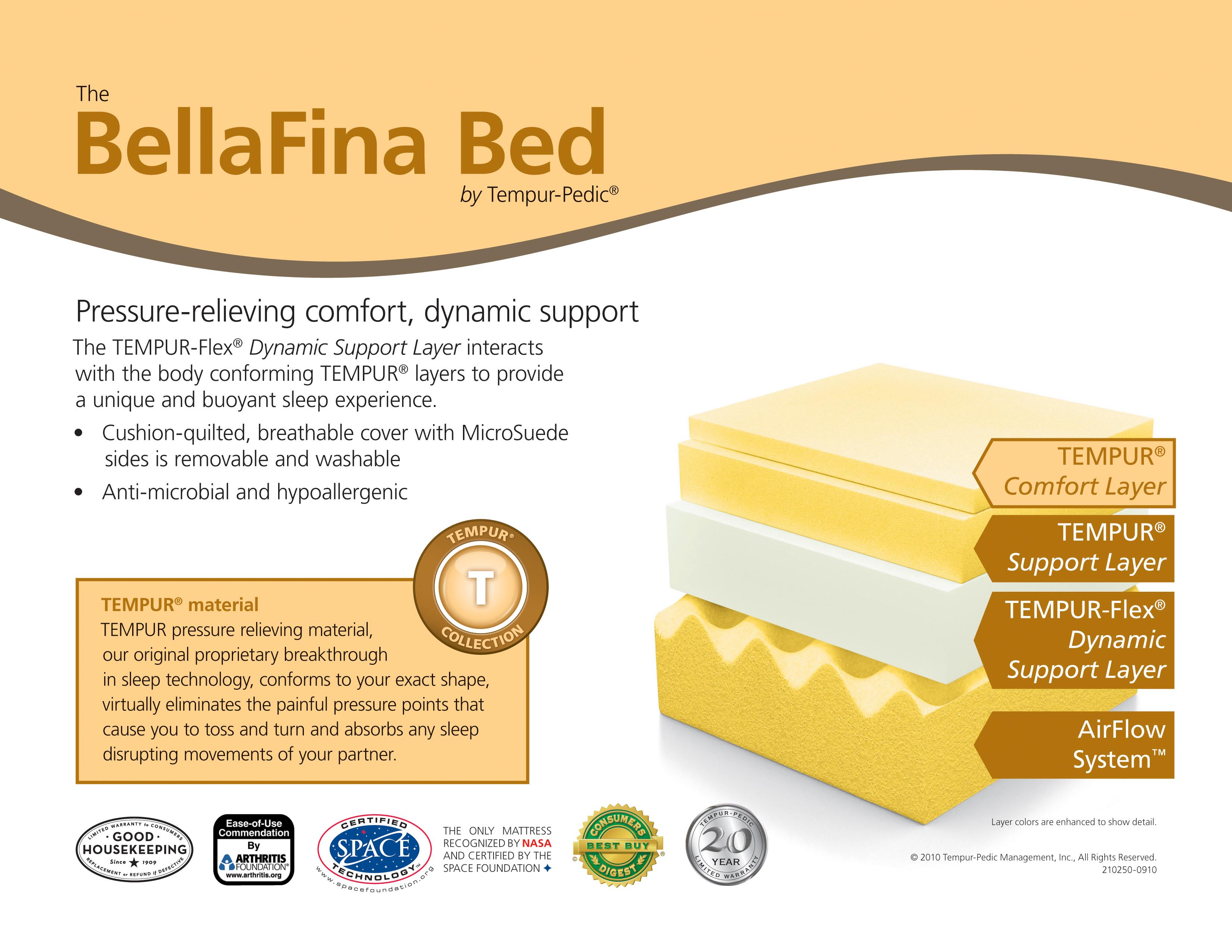 x - The BellaFina Bed by Tempur-Pedic®